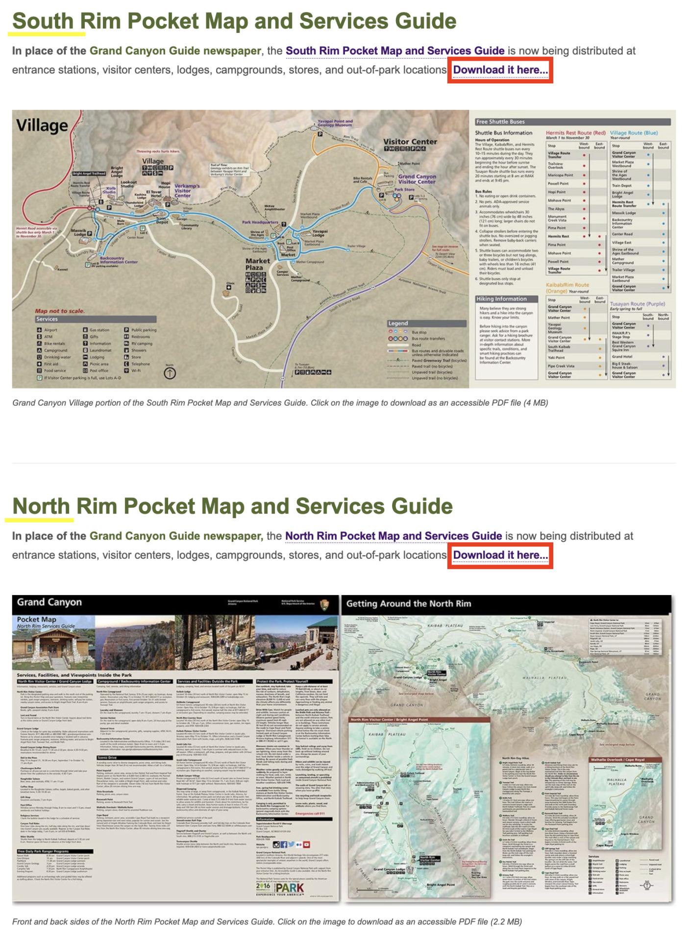 【超便利】グランドキャニオンのガイドマップを日本語で入手する方法